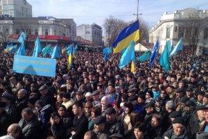 Со здания Меджлиса неизвестные сняли украинский флаг