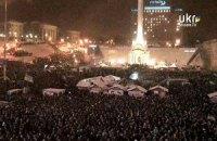 На Майдане Независимости находятся около 20 тысяч людей