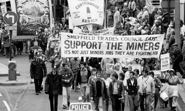 Британські шахтарі вимагають державної підтримки, 1985 р.