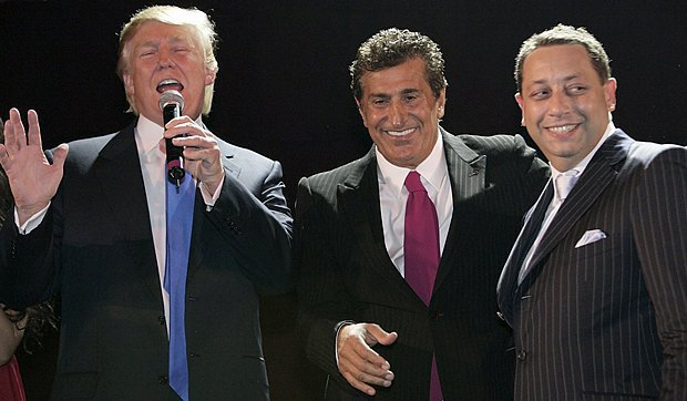 Donald Trump, Tefik Arifov and Felix Sater at the official opening of Trump SoHo, September 2007