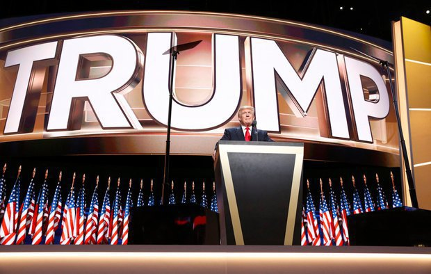 Donald Trump during his speech