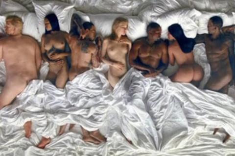 Канье Уэст раздел в своем клипе Дональда Трампа, Тейлор Свифт и Амбер Роуз