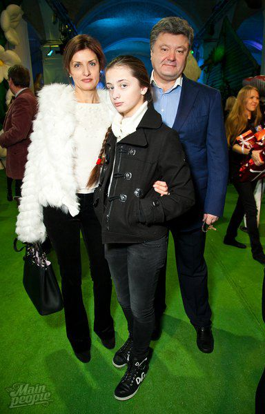 Петр и Марина Порошенко с дочкой