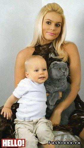 Ксения Новикова со старшим сыном Мироном