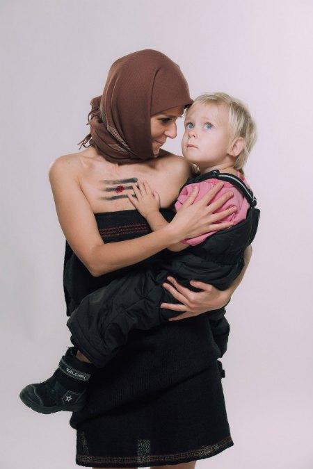 Катя Чили с сыном Святозаром