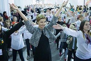 Первая леди Украины потанцевала с детьми в Арсенале