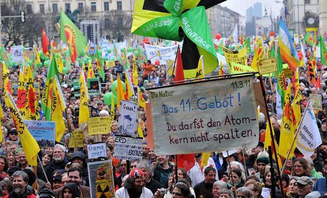 Митинг протеста против ядерной энергетики в Мюнхене 26 марта 2011 года