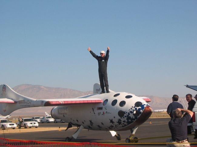 SpaceShipOne после посадки