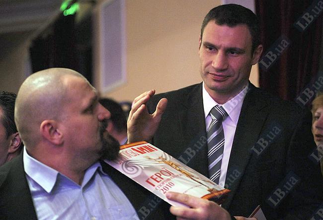Встреча в партере: два самых сильных украинца - Васыль Вирастюк и Виталий Кличко