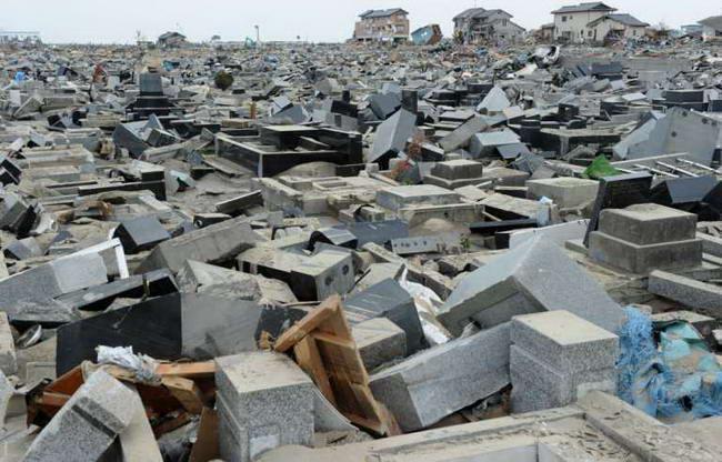 Разрушенное кладбище в Натори