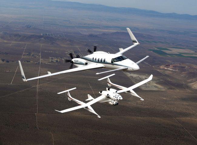 Тестовый полет Whight Knight 1 и SpaceShipOne