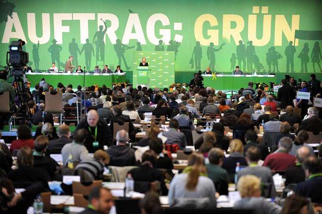 """Съезд """"Зеленых"""" в во Фрайбурге 20 ноября 2010 года"""