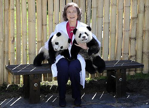 Королева Испании София в зоопарке Мадрида