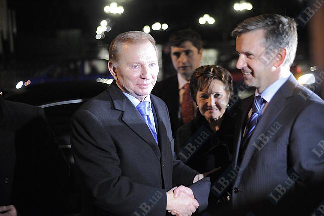 Экс-президент Украины Леонид Кучма и Михаил Зурабов