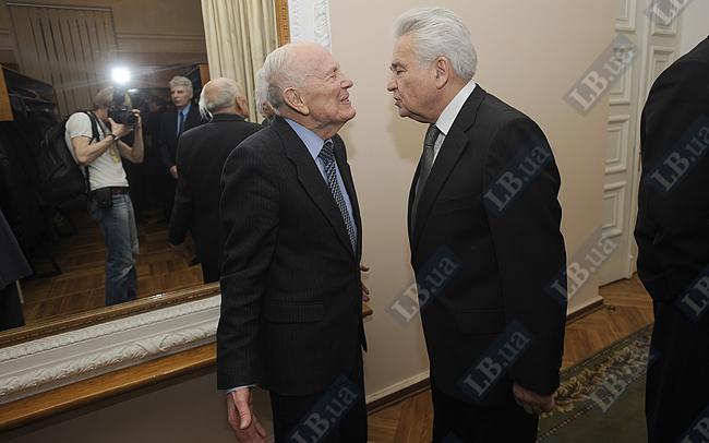 Президент Академии наук Борис Патон и первый премьер-министр независимой Украины Витольд Фокин