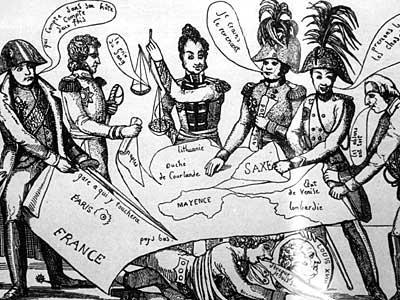 Венский конгресс, карикатура того времени