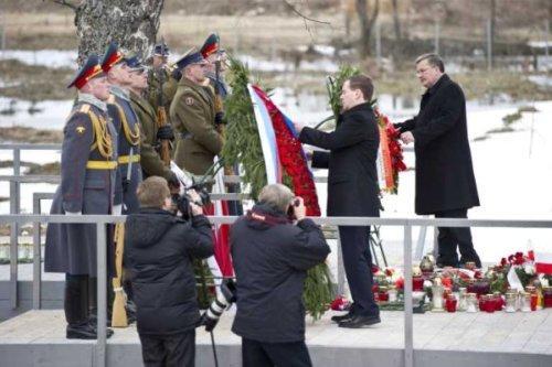 президенти Росії та Польші під Смоленськом