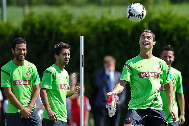 Збірна Португалії на тренуванні