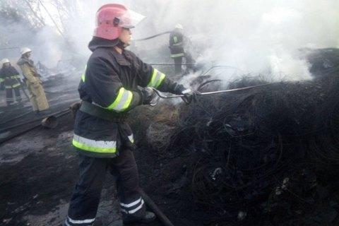 ВЧеркассах появился масштабный пожар