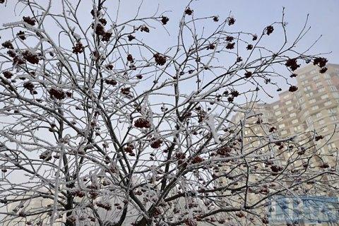 В воскресенье в Киеве мокрый снег