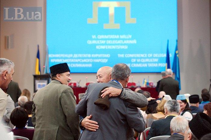 Участники Курултая в Киеве, 12 ноября 2018.