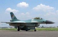 У Німеччині розбився американський винищувач F-16