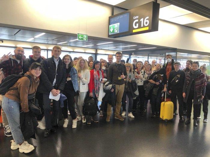 Перед вильотом у аеропорту Відня