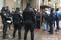 В Киеве задержали группу вооруженных парней в балаклавах
