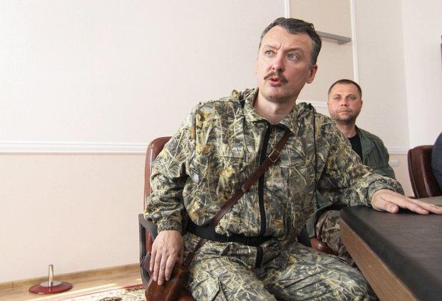 Гиркин (также известный как Стрелков) и Бородай в Донецке, 10 июля, 2014 года.