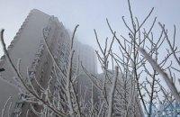 В понедельник в Киеве днем сильный снег