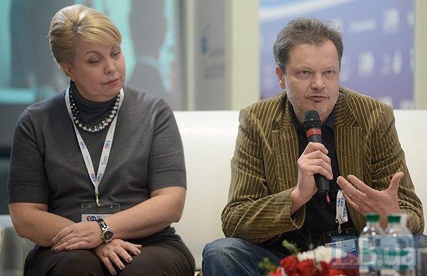 Лилия Млинарич, продюсер, президент международного фестиваля «Джаз Коктебель» и Игорь Подольчак, художник, кинорежиссер