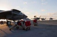 Винищувачі США вперше з часів Другої світової здійснили бойовий виліт з іноземного авіаносця