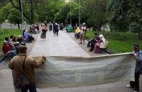 Здание ВККС второй день блокируют неизвестные активисты