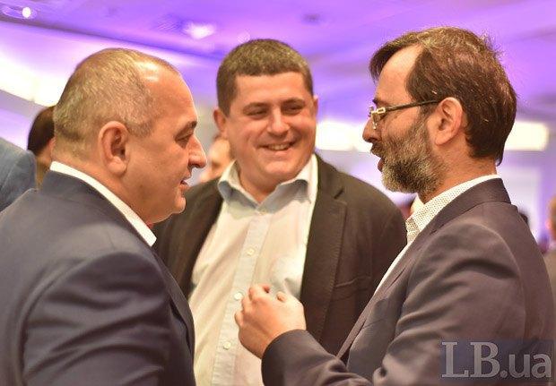 Слева направо: Анатолий Матиос, Максим Бурбак и Георгий Логвинский