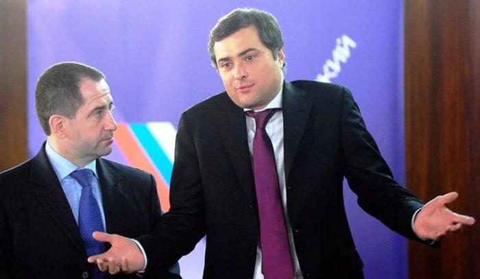 Владислав Сурков (справа) и Михаил Бабич