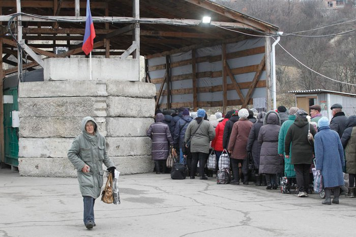 Пункт перехода в Станице Луганской
