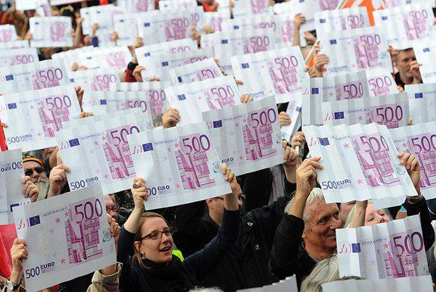 Демонстрация в Германии за введение налога на богатство, 29 сентября 2012 года