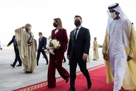 Зеленський з дружиною прилетіли до ОАЕ (оновлено)