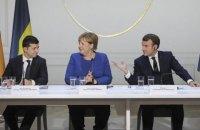 Офис президента планирует организовать разговор Зеленского, Макрона и Меркель