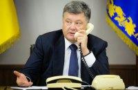 Порошенко обговорив з Меркель і Олландом обстріли на Донбасі