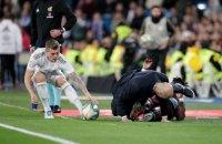 В матче Ла Лиги Зидан получил сокрушительный удар ногой по лицу