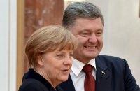 Порошенко поздравил Меркель с победой на парламентских выборах