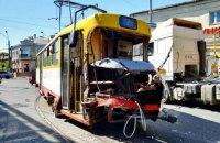 В Одессе трамвай с пассажирами врезался в грузовик