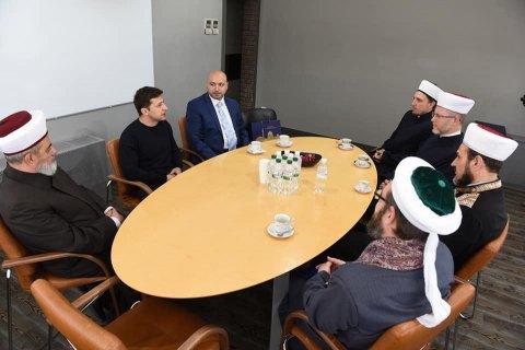 Зеленський зустрівся з мусульманськими релігійними лідерами України