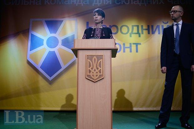 Татьяна Черновол отдала Украине самое дорогое - свою вторую половину, заявил Яценюк