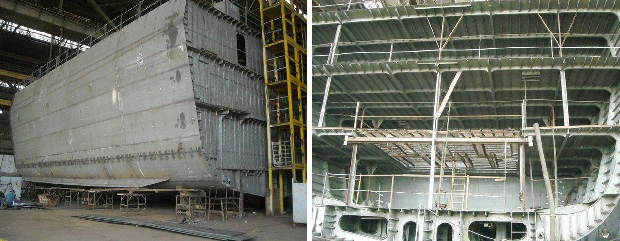 Секції недобудованого корпусу 'Володимира Великого'