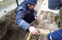 Біля школи в Запорізькій області виявили майже 100 гранат часів Другої світової