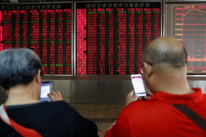 Фондовая биржа, Пекин, 10 мая, 2019.