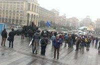 На Майдан начало прибывать подкрепление из областей