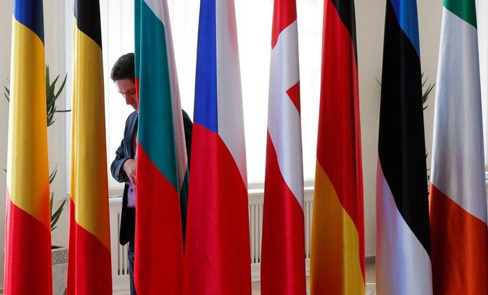 Подготовка к саммиту ЕС в Сибиу, 9 мая 2019.
